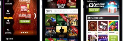 gambling via a mobile app