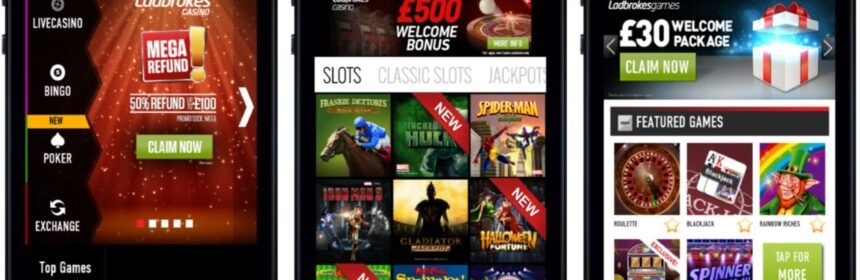 gambling via a mobile app